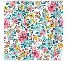 Ditsy Flowers Poster