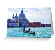 Impressions of Venice - Traghetto Crossing the Grand Canal Greeting Card