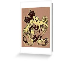 MICKTHULHU MOUSE (monochrome) Greeting Card
