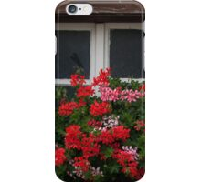Red And Pink Pelargonium  iPhone Case/Skin