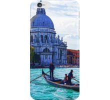 Impressions of Venice - Traghetto Crossing the Grand Canal iPhone Case/Skin