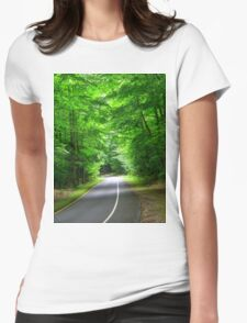 Country Drive Womens Fitted T-Shirt