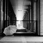 an umbrella in Tokyo by FritzSchumann