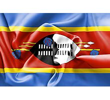 Swaziland Flag Photographic Print