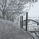 Walkway on the Yarra by Joan Wild