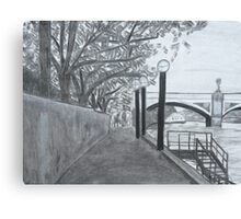 Walkway on the Yarra Canvas Print