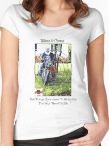 Bikes & Guns Women's Fitted Scoop T-Shirt