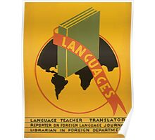 WPA United States Government Work Project Administration Poster 0965 Languages Poster