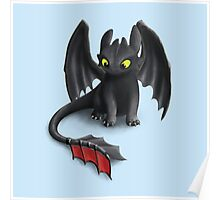 Toothless, Night Fury Inspired Dragon. Poster