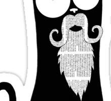 Hipster Beard Sticker