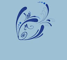 Cool Fish Grunge Twirls Womens Fitted T-Shirt