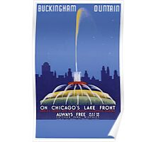 WPA United States Government Work Project Administration Poster 0222 BUckingham Fountain on Chicago's Lake Front Poster