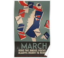 WPA United States Government Work Project Administration Poster 0477 In March Read Books Poster