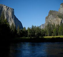 Shadows Falling Over Yosemite by Goudy