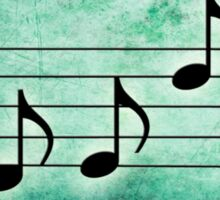 KEYS - Words in Music Teal Background - V-Note Creations Sticker