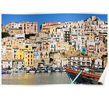 Town of Sciacca, Sicily, viewed from the port Poster
