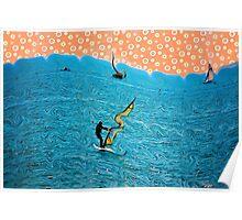 Abstract Sailing Dreams Poster