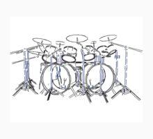 Drum Kit: Marker Drawing by bradyarnold