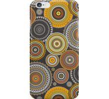 Circles Geometric in Yellow iPhone Case/Skin