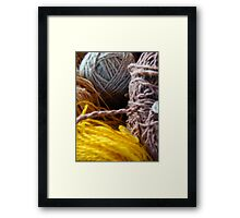 Knit Song II Framed Print