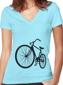 Le Bike Women's Fitted V-Neck T-Shirt