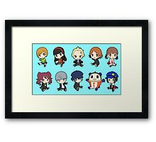 Persona 4 Chibis Framed Print