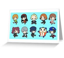 Persona 4 Chibis Greeting Card