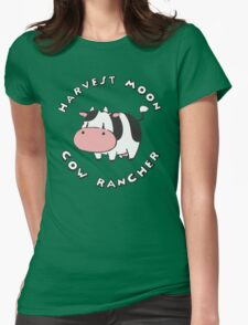 HARVEST MOON: COW RANCHER Womens Fitted T-Shirt