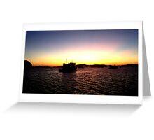Sunset at the bay~ Greeting Card
