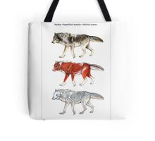 Anatomy of a Wolf Tote Bag