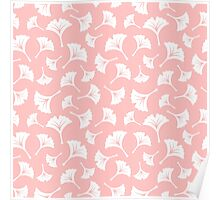 Light Pink Ginkgo Leaves Poster