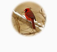 Red Cardinal in a Winter Setting Unisex T-Shirt
