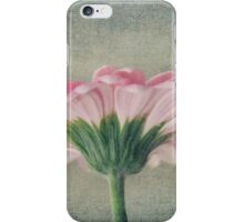 Flat Pink Gerbera Textured iPhone Case/Skin