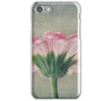 Flat Pink Gerbera Textured iPhone Case/Skin