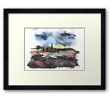The sinking village Framed Print