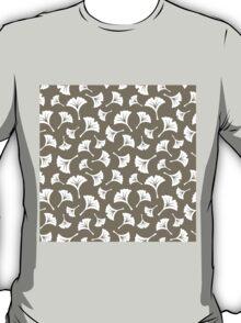 Warm Grey Ginkgo Leaves T-Shirt