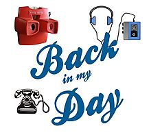 BACK IN MY DAY - VIEW MASTER, CASSETTES & DIAL TELEPHONE Photographic Print