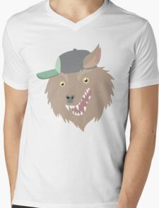 THE Party God Wolf Mens V-Neck T-Shirt