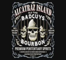 Alcatraz Island BadGuys Bourbon Label T-Shirt