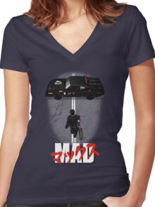 The Mad Warrior Women's Fitted V-Neck T-Shirt