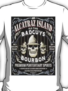 Alcatraz Island BadGuys Bourbon Label-2 T-Shirt