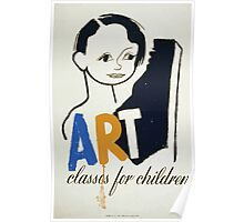 WPA United States Government Work Project Administration Poster 0168 Art Classes for Children Poster