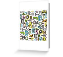 Alphabet Letters Doodle Greeting Card