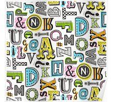 Alphabet Letters Doodle Poster