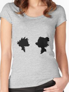 Calvin and Hobbes Silhouette Women's Fitted Scoop T-Shirt
