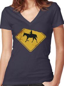 [Sleepy Hollow] - The Headless Horseman Women's Fitted V-Neck T-Shirt