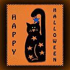 Black Cat Halloween by Eva Thomas