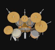 Drum Kit: Top View by bradyarnold