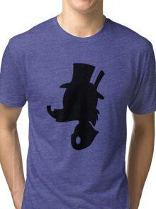 Scrooge McDuck Silhouette Tri-blend T-Shirt