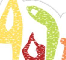 Yoga Asanas Sticker